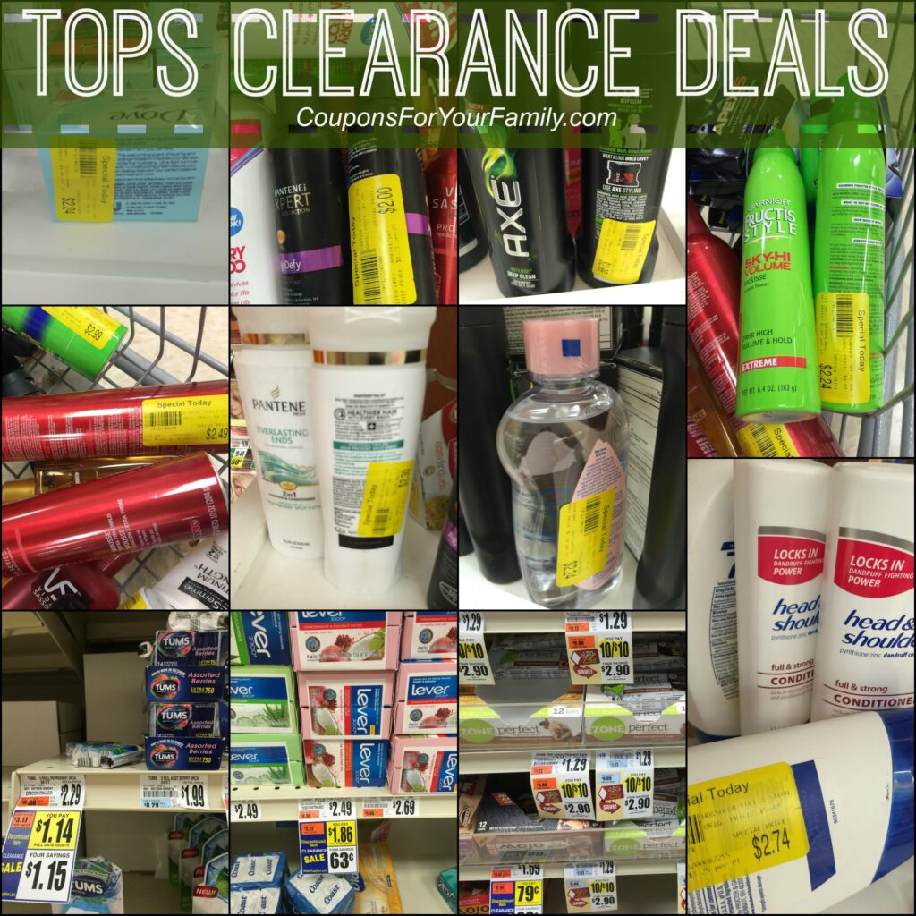 Tops WNY Deals on Clearance Health and Beauty Products