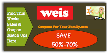 Weis Coupon Matchups