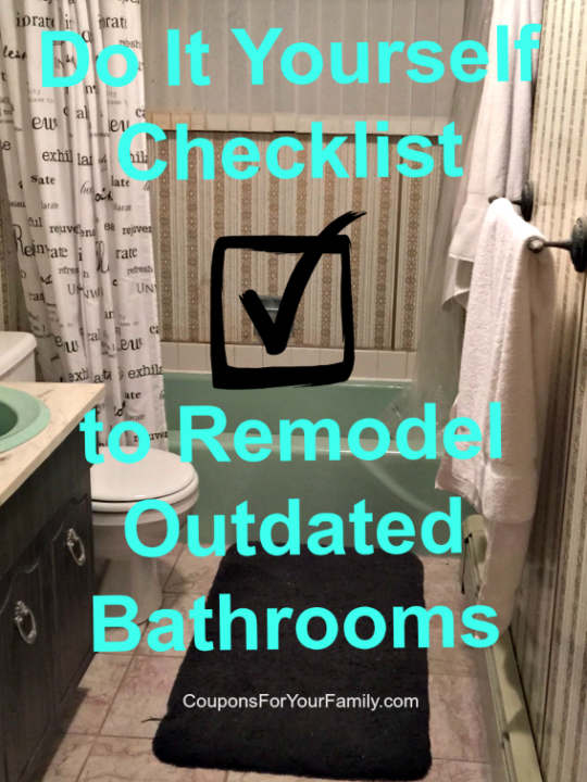 Checklist for Do It Yourself Bathroom Makeover