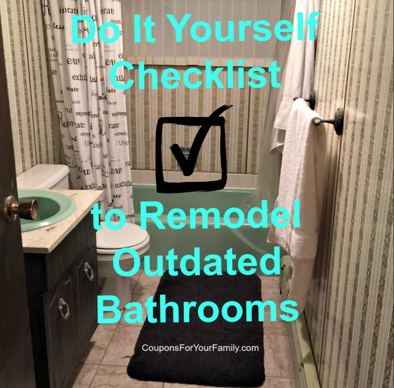 Checklist for a do it yourself bathroom makeover on a budget for Bathroom renovation do it yourself