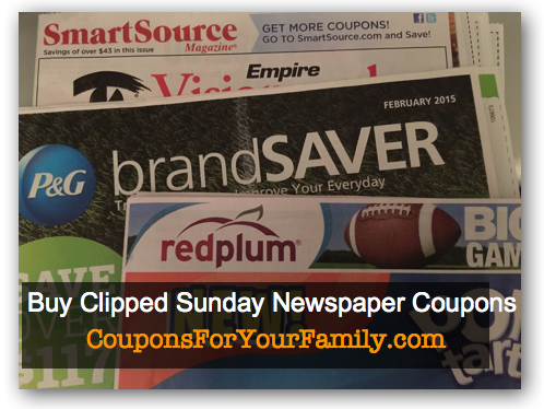 Buy Coupons in Sunday Newspapers June 28 and (5) Chances to win $5 in clipped coupons from Klip2Save!!