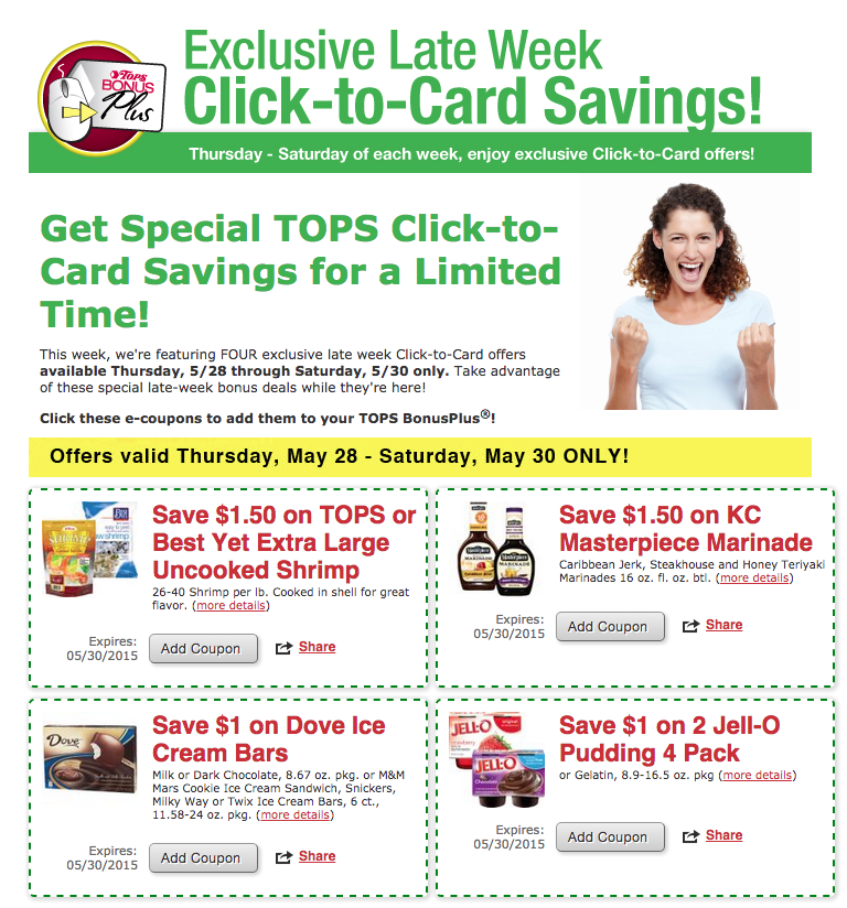 Tops Store Coupons Late Week