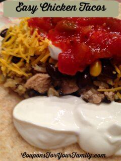 Easy Shredded Chicken Taco