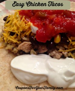 Easy Shredded Chicken Taco