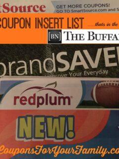 Buffalo Sunday Coupon Inserts
