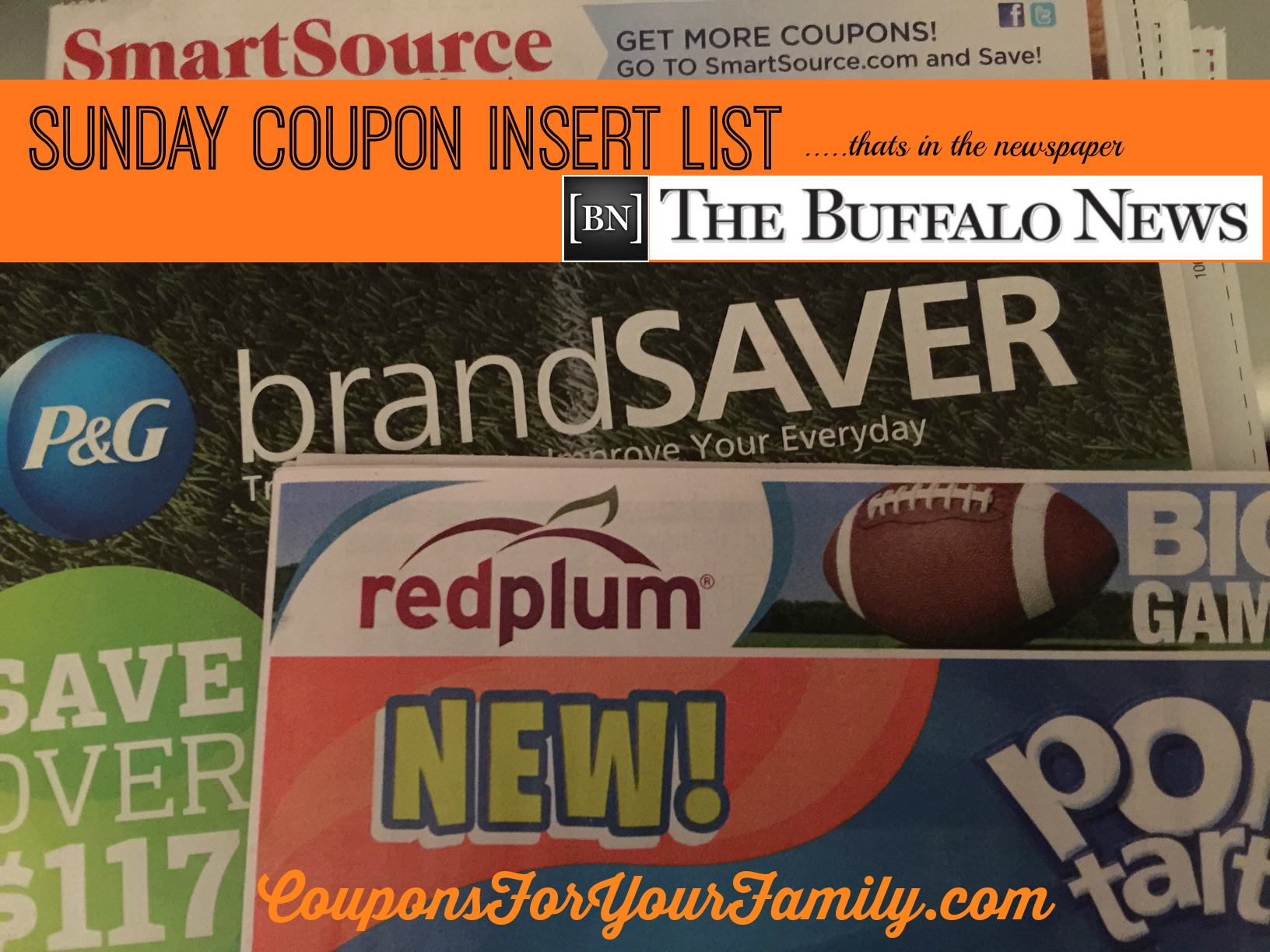 Sunday Coupon Inserts in Buffalo NewsPaper June 28: Tops $5 off $50 Coupon, Ajax, Smithfield, Butterball, Hersheys and more