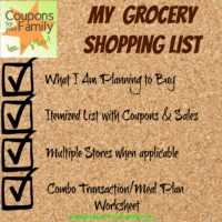 My Grocery Shopping List