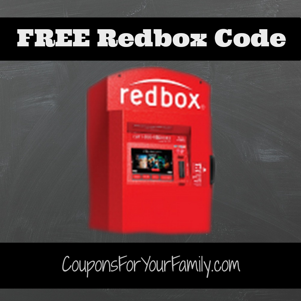 NEW Redbox Code for FREE DVD Rental!!