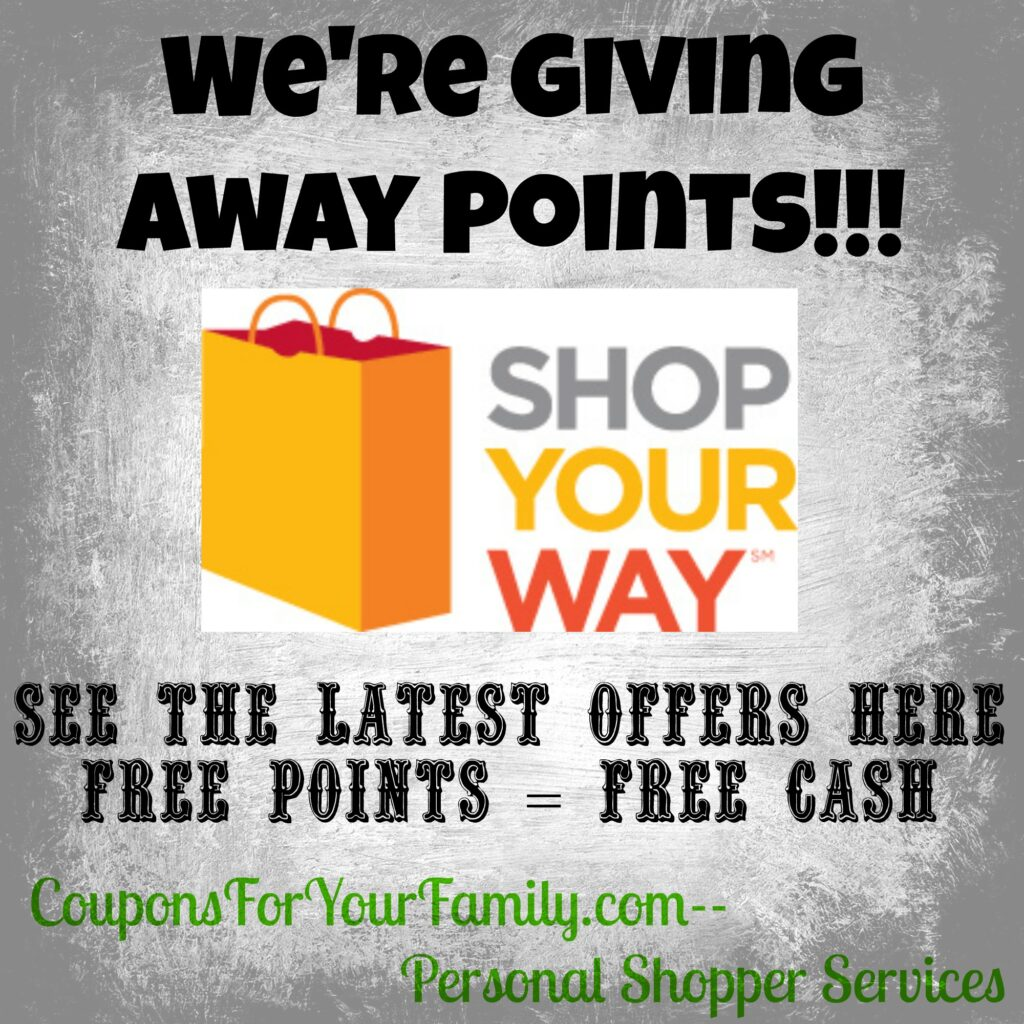 Shop Your Way Points Offers