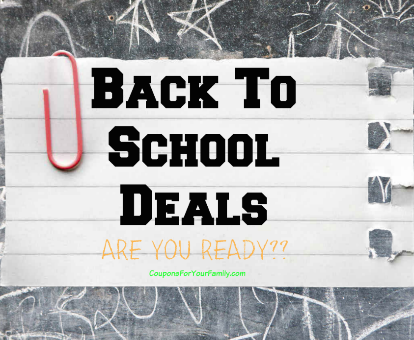 CVS Back to School Deals