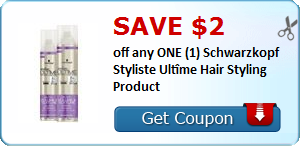 SAVE $2.00 off any ONE (1) Schwarzkopf Styliste Ultîme Hair Styling Product