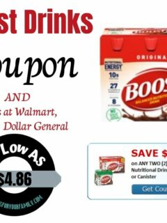 Boost Drinks coupon