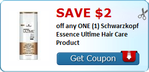 SAVE $2.00 off any ONE (1) Schwarzkopf Essence Ultîme Hair Care Product