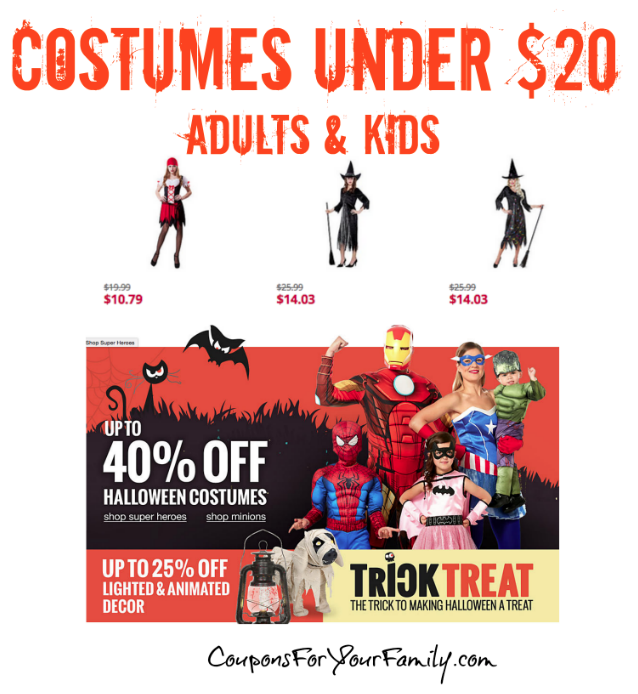 Halloween Deals on Adult Womens Halloween Costumes as low as $10.79!!!