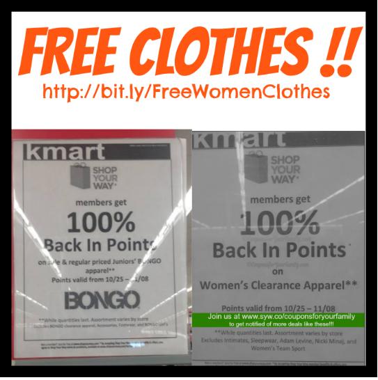 Free Clothes at Kmart