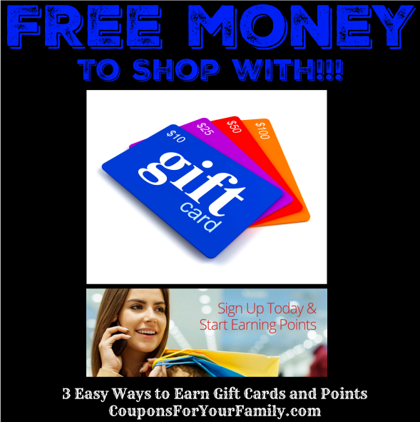 3 Easy Ways to Earn FREE Gift Cards and Free Points Online!!