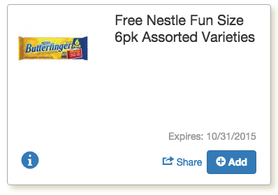 Hurry– Free Nestle Fun Size Candy at Tops Markets with ECoupon!