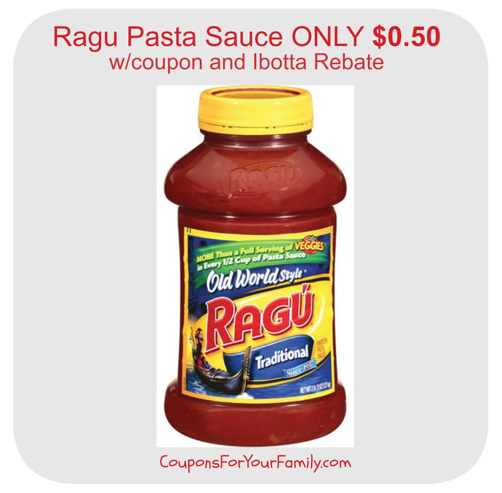After coupon we can score Ragu Simply Pasta Sauce for FREE! We can also stock up on Ragu Pasta Sauce and Cheese Creations for as low as $ after coupon when you buy 2! Please note all the Insert coupons expire Sunday, the FREEBIE Deal is one day only. Here is .