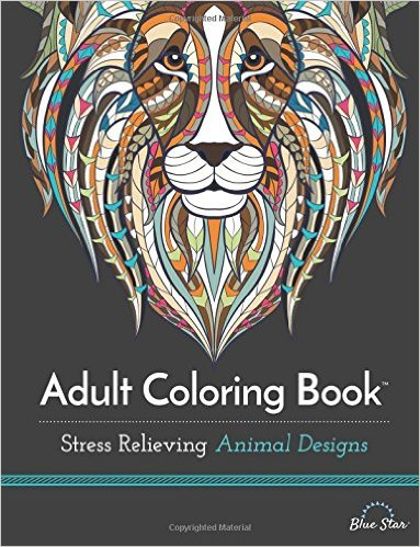Amazon Adult Coloring Book Stress Relieving Animal Designs Only 893 Reg 1299