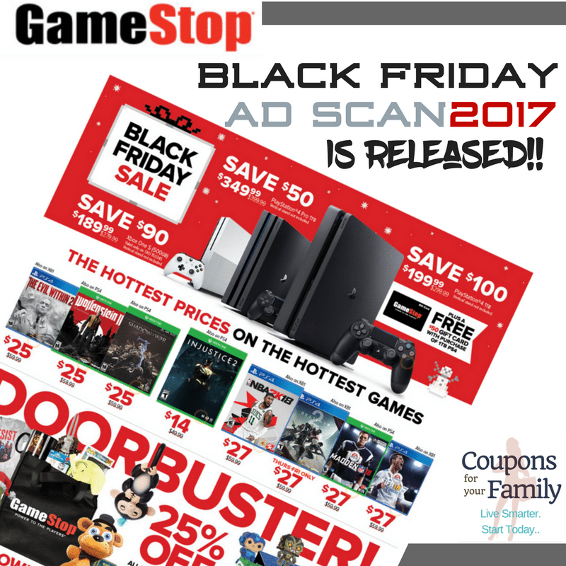 The GameStop Black Friday Deals and Shoppable Ad Scan 2017 is released!