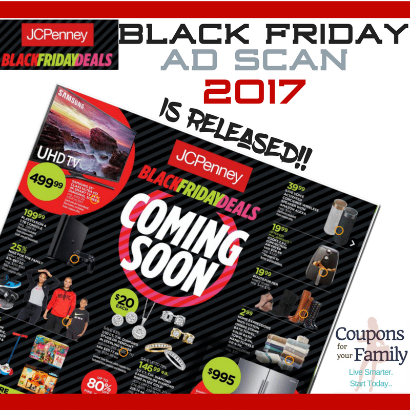 Sams Club Sunday Hours >> JCPenney Black Friday Ad Scan 2017 and how to get up to $500 in coupons!!