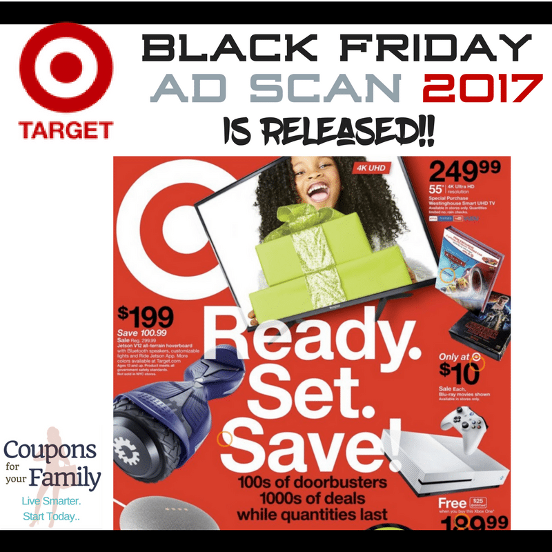 Here is the Target Black Friday Ad Scan 2017 plus list of the top deals!