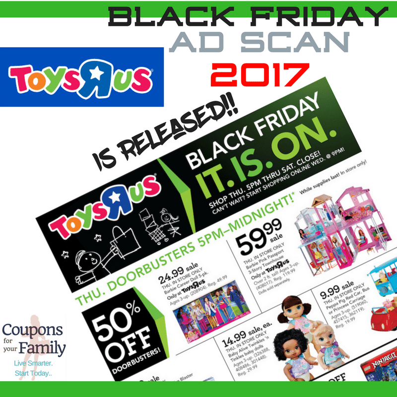Check out this Toys R Us Black Friday Ad Scan and Top Deals 2017!!