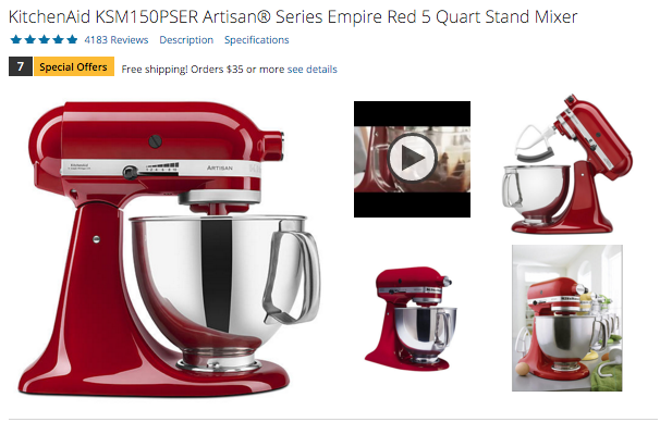Sears Kitchen Aid on