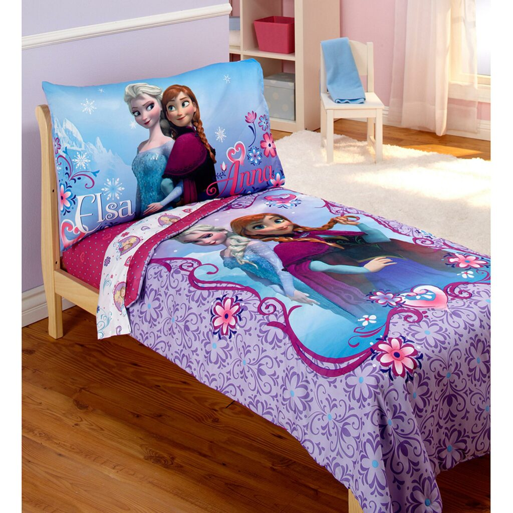 Check Out The Newest Deal On Disney Frozen Elsa Anna 4pc Toddler Bedding Set At Walmart