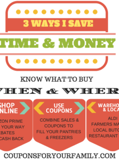3 ways to save money & time