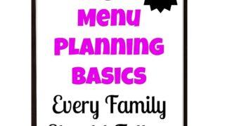 5 menu planning basics