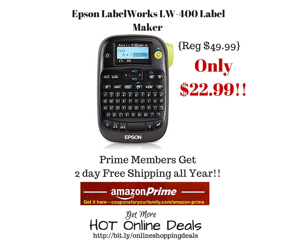 Amazon: Epson LabelWorks LW-400 Label Maker Only $22.99 (Reg. $49.99) |