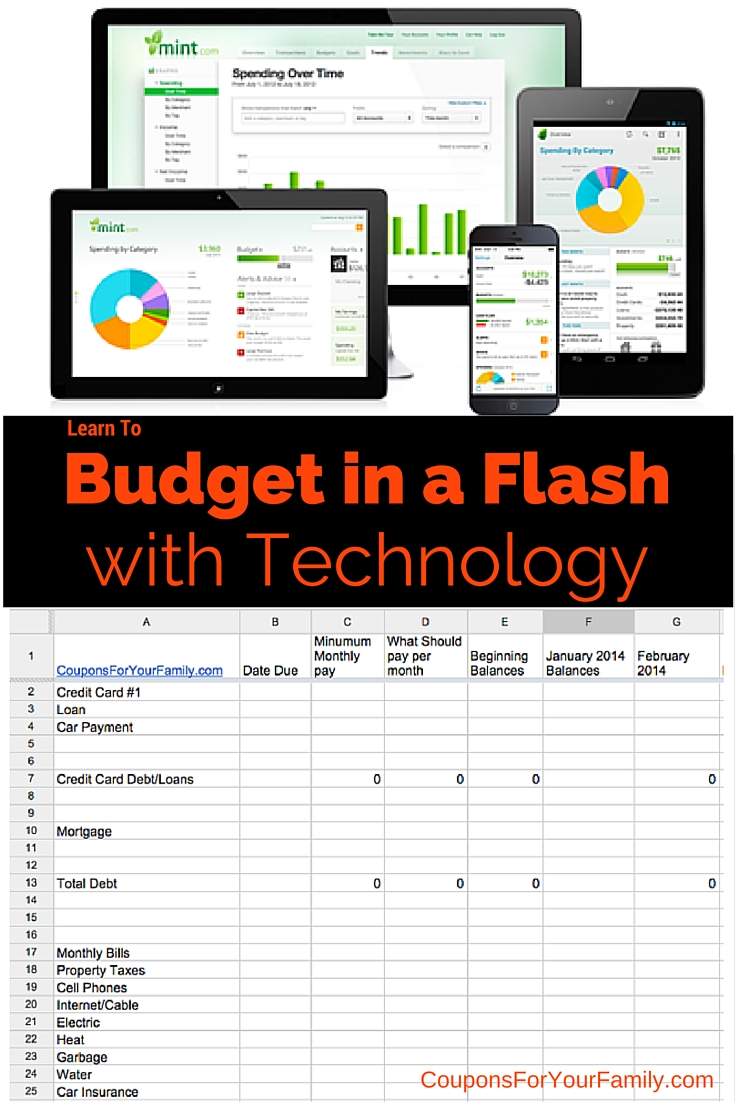 Budget Your Finances in a Flash with Todays Technology