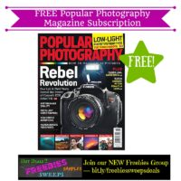 Freebies Offer: FREE Popular Photography Magazine Subscription
