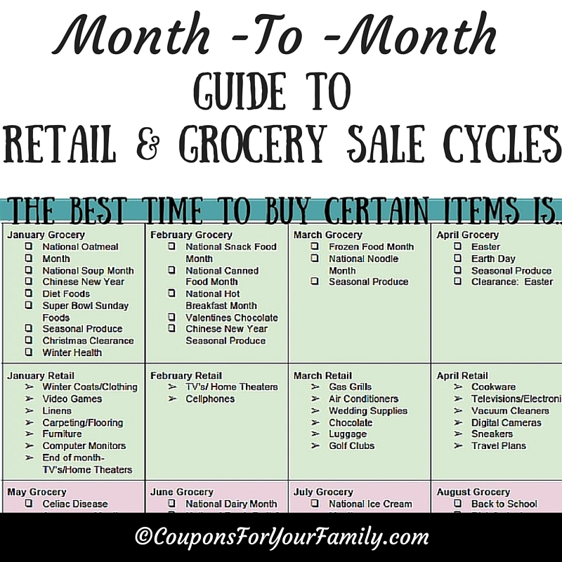 Whens the Best Time to Buy : A Month to Month Guide to Retail & Grocery Sale Cycles