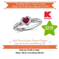 Kmart: Sterling Silver Created Ruby Ring Only $19.99 (Reg. $79.99)