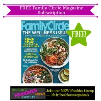 Freebies Offer: FREE Family Circle Magazine Subscription