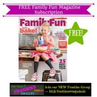 Freebies Offer: FREE Family Fun Magazine Subscription