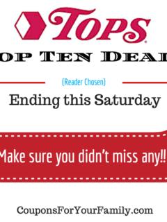 Tops Markets Top Ten Deals Ending