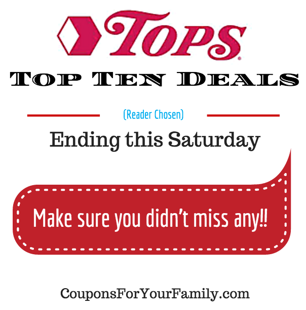 Tops Markets Top Ten Deals Ending