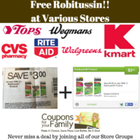Free Robitussin Medicine at various stores~~this week only!