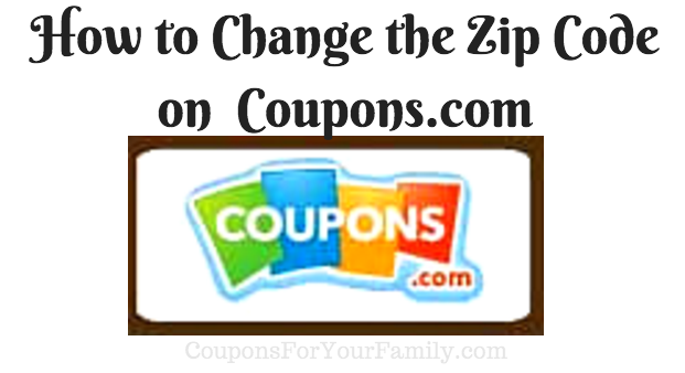 how to change the zipcode on coupons.com
