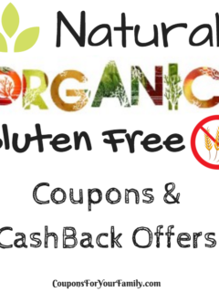 Organic and Gluten Free Coupons