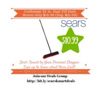 Sears: Craftsman 24 in. Dual Fill Push Broom Only $10.99 (Reg. $21.99)