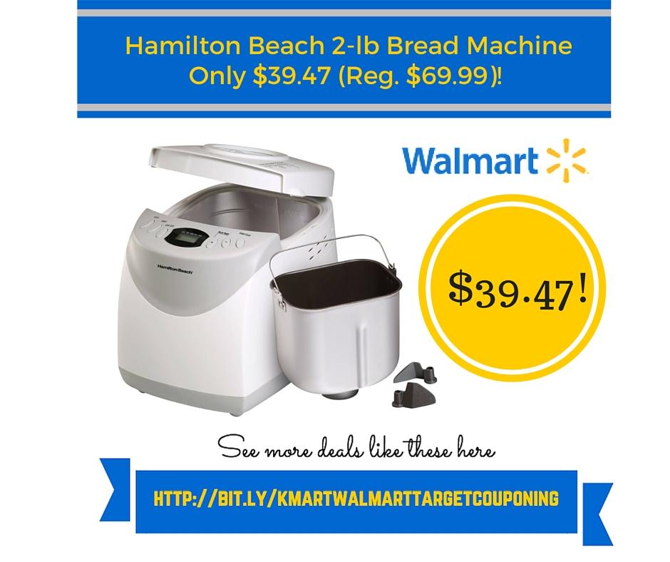 Walmart: Hamilton Beach 2-lb Bread Machine Only $39.47