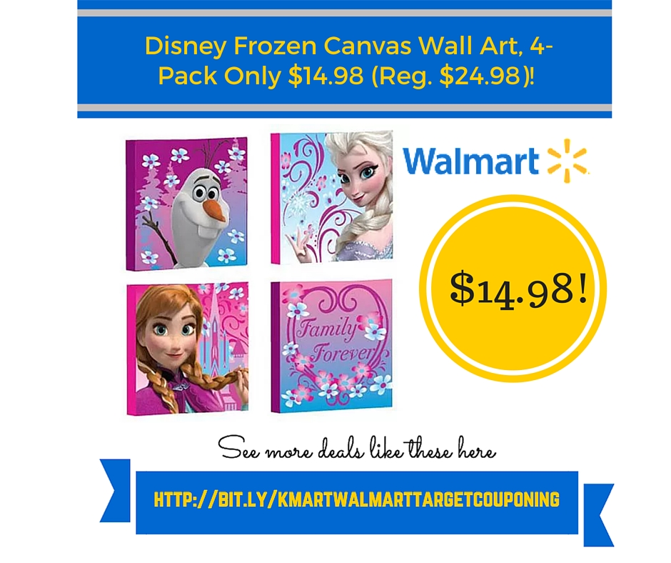 Walmart: Disney Frozen Canvas Wall Art, 4-Pack Only $14.98 (Reg ...