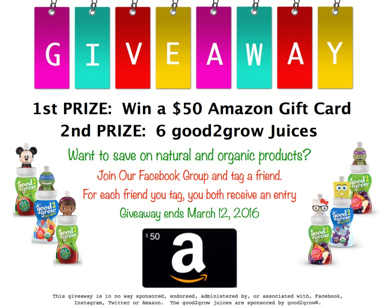 Get Organic Coupons , Save while Eating Healthier AND enter to win a $50 Amazon Gift Card!!