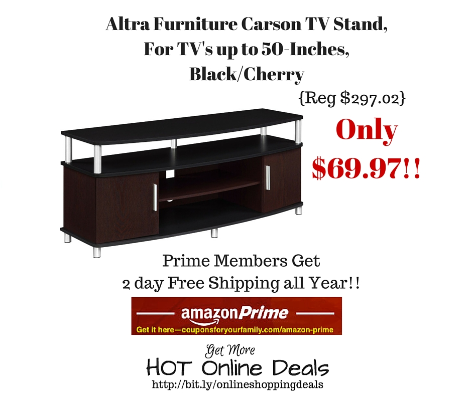 Amazon: Altra Furniture Carson TV Stand, For TVu0027s Up To 50 Inches,