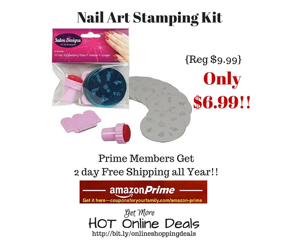 Amazon: Nail Art Stamping Kit Only $6.99 (Reg. $9.99) |