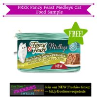 Freebies Offer: FREE Fancy Feast Medleys Cat Food Sample